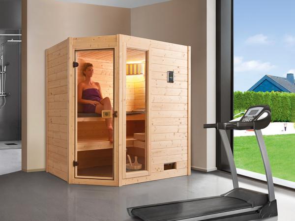 WE-Sauna Massiv. Valida Eck 1 GTF, ohne Ofen