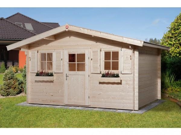 """Gartenhaus """"110 Gr. 1"""" 28 mm naturbelassen"""